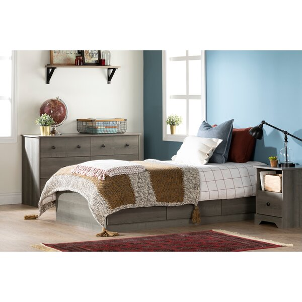 Volken Twin Mates and Captains Bed with Drawers by South Shore