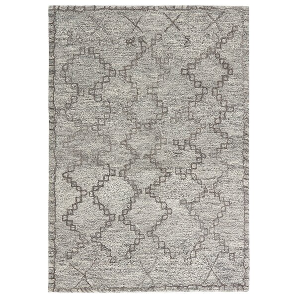 Maiah Hand-Tufted Cloud Cream/Frost Gray Area Rug by Bloomsbury Market