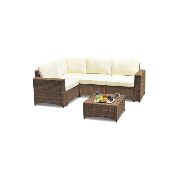Defranco Modular 3 Piece Sectional Seating Group with Cushions by Highland Dunes