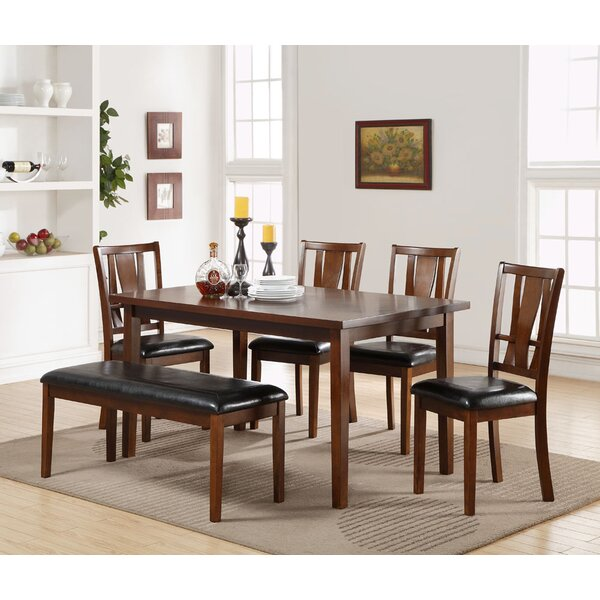 Hudson Square 6 Piece Solid Wood Dining Set by Alcott Hill