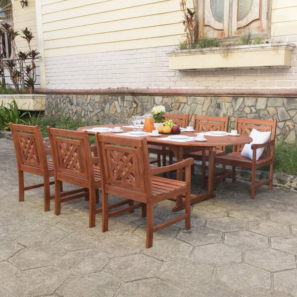 Amabel 7 Piece Patio Dining Set by Beachcrest Home