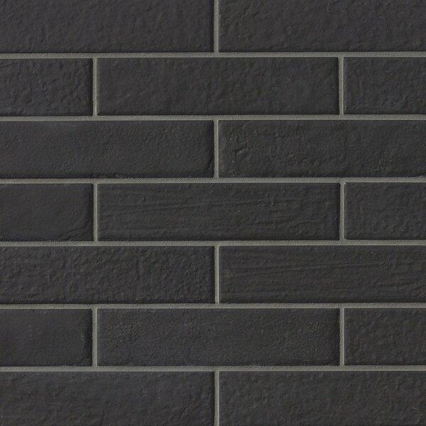 9.75 x 2.38 Porcelain Field Tile in Black by Grayson Martin