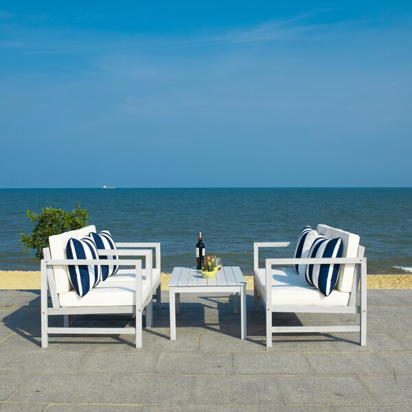 Friese 4 Piece Sofa Seating Group with Cushions by Breakwater Bay