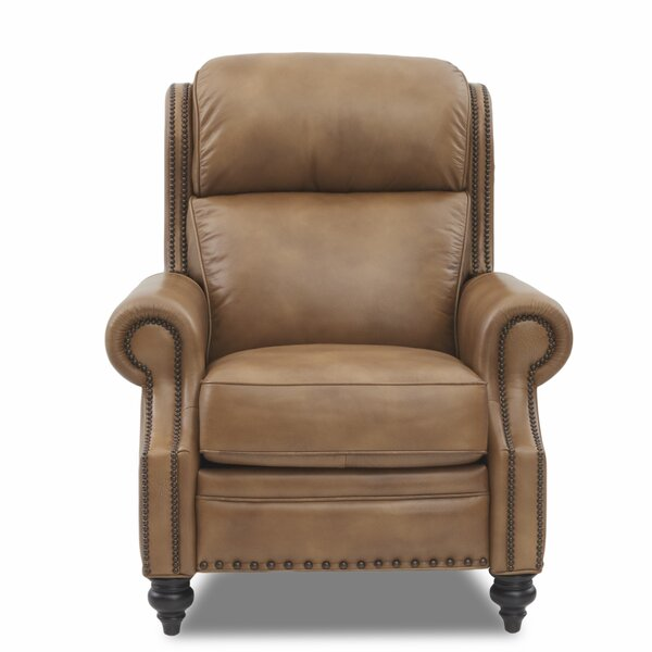 Bassham High Leg Leather Power Recliner by Canora Grey