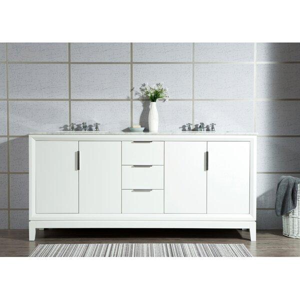 Tappahannock 72 Double Bathroom Vanity Set with Mirror