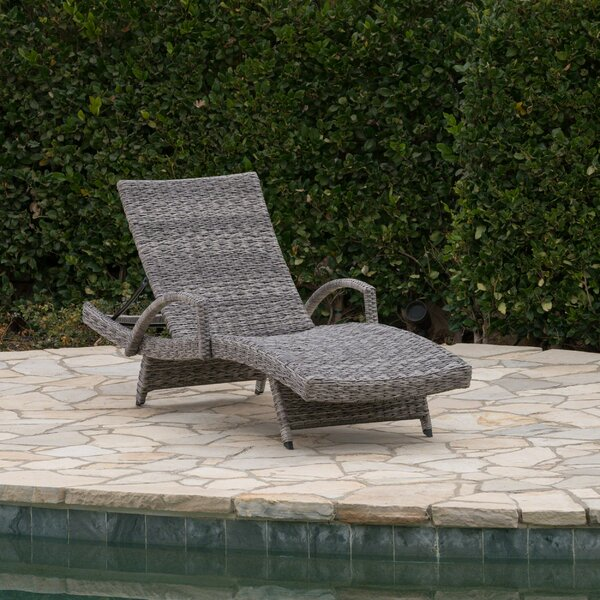 Hershman Armed Reclining Chaise Lounge by Highland Dunes Highland Dunes