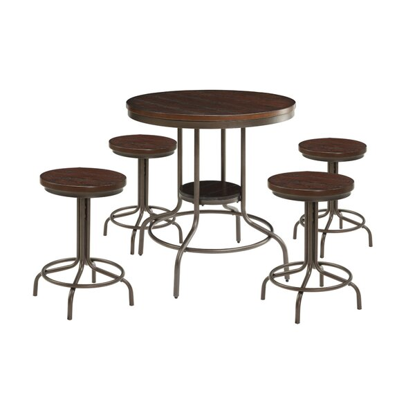 Corriveau 5 Piece Counter Height Dining Set by Millwood Pines Millwood Pines