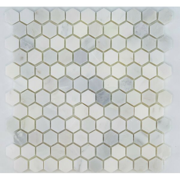 1 x 3 Marble Honeycomb Wall & Floor Tile