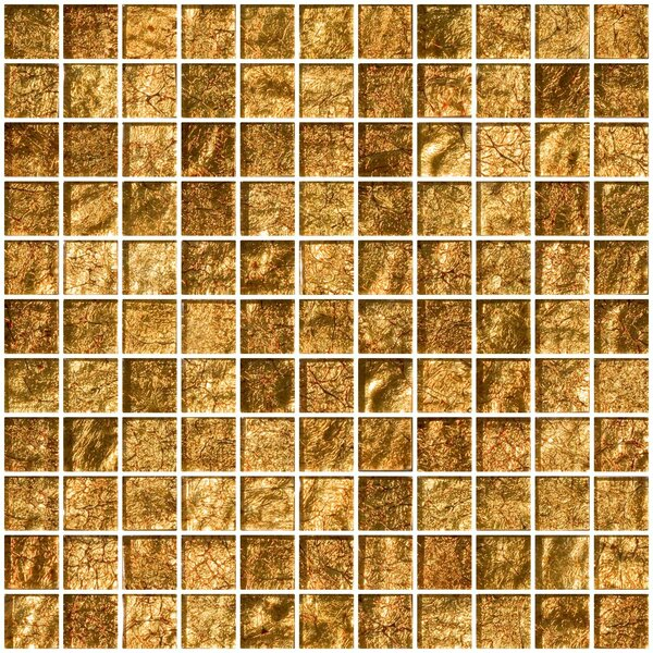 1 x 1 Glass Mosaic Tile in Golden Rust by Susan Jablon