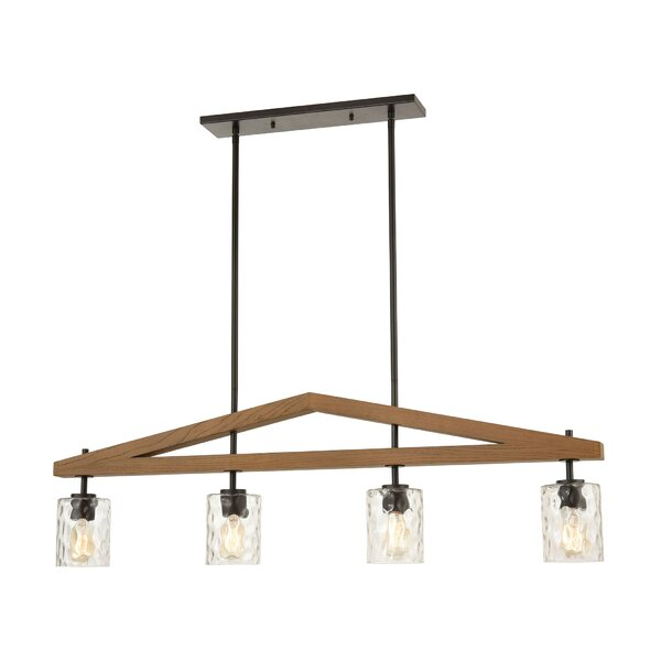 Hildulf 4 - Light Unique / Statement Rectangle Chandelier By Gracie Oaks