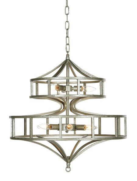 Phoenix 6 - Light Candle Style Geometric Chandelier By Ellahome