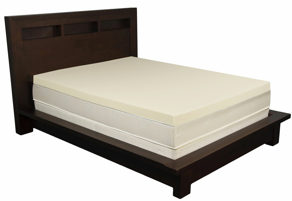 Memory Foam Mattress Topper Reviews Allmodern