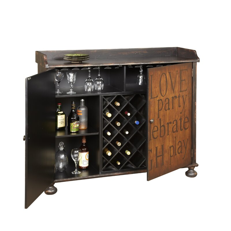 Wonderful Red Barrel Studio Firefly Hollow Bar Cabinet With Wine Storage U0026 Reviews |  Wayfair Part 18