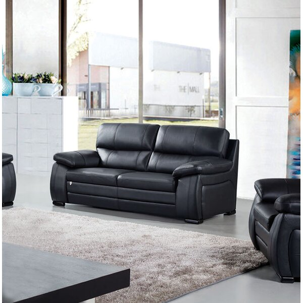Stay On Trend This Ugarte Leather Loveseat Get The Deal! 66% Off