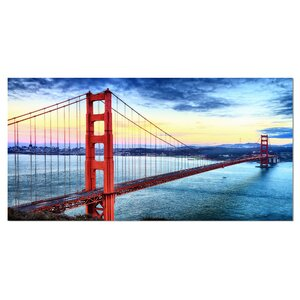 Golden Gate Bridge in San Francisco Sea Bridge Photographic Print on Wrapped Canvas by Design Art