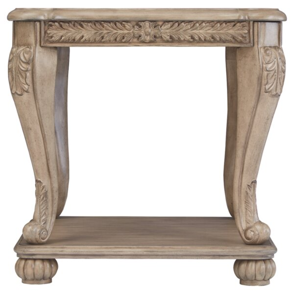 Charline Floor Shelf End Table With Storage By Astoria Grand
