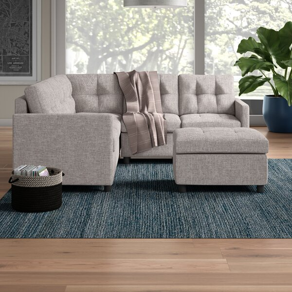 Dolly Symmetrical Modular Sectional with Ottoman by Brayden Studio