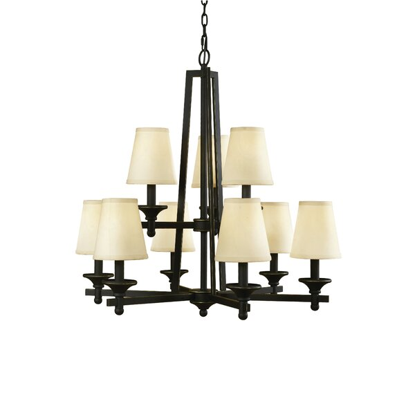 Baxter 9-Light Shaded Tiered Chandelier by Woodbridge Lighting Woodbridge Lighting