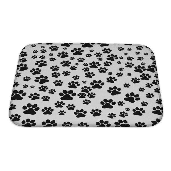 Cappa Dog Footprint Bath Rug by Gear New