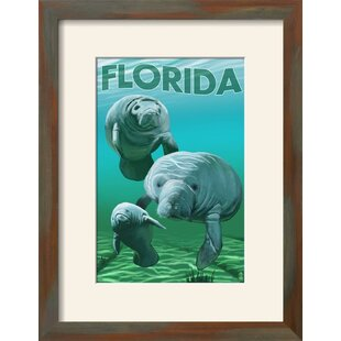 U0027Florida   Manateesu0027 Framed Vintage Advertisement