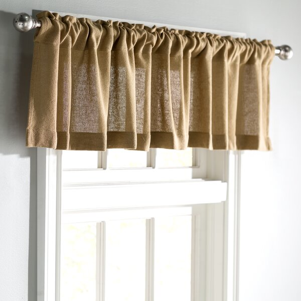 Roxane Burlap Natural Curtain Valance by Ophelia & Co.