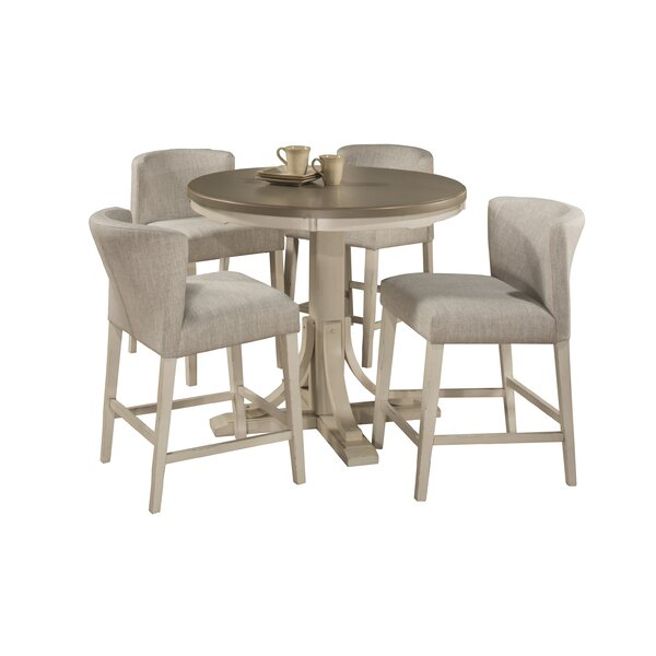 Kinsey Modern 5 Piece Dining Set by Rosecliff Heights Rosecliff Heights