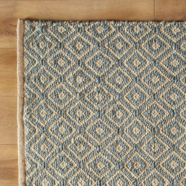 Diamonds in the Sky Hand-Woven Blue Area Rug by Birch Lane Kids™