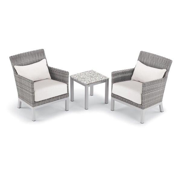 Saleem 3 Piece Seating Group with Cushion by Brayden Studio Brayden Studio