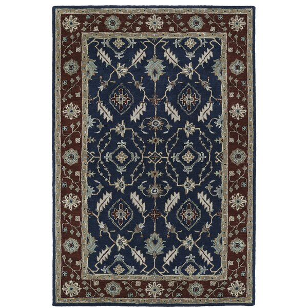 Lyndora Traditional Handmade Rectangle Area Rug by Three Posts