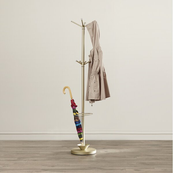 Darren Metal Coat Rack with Umbrella Stand by Orren Ellis
