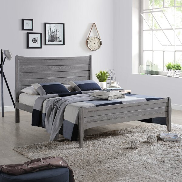 Leslie Wooden Queen Platform Bed by Union Rustic