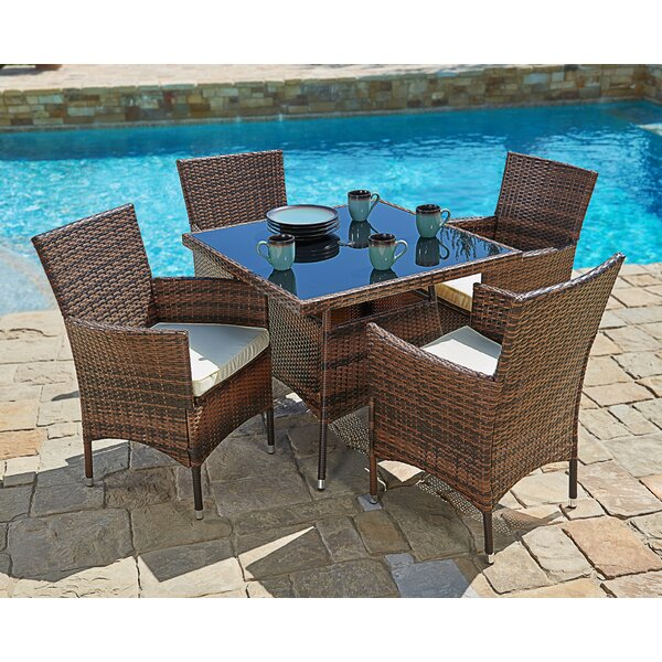 Behrendt Outdoor 5 Piece Dining Set with Cushions by Brayden Studio