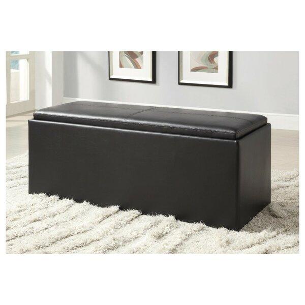Newlin Faux Leather Storage Bench by Latitude Run