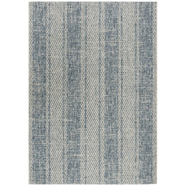 Myers Gray/Blue Indoor/Outdoor Area Rug by Mistana