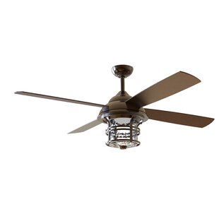 Outdoor ceiling fans youll love wayfair 56 concetta 4 blade outdoor ceiling fan with remote aloadofball Images