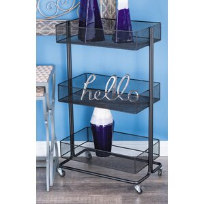 Metal Tray Stand Bar Cart by Cole & Grey