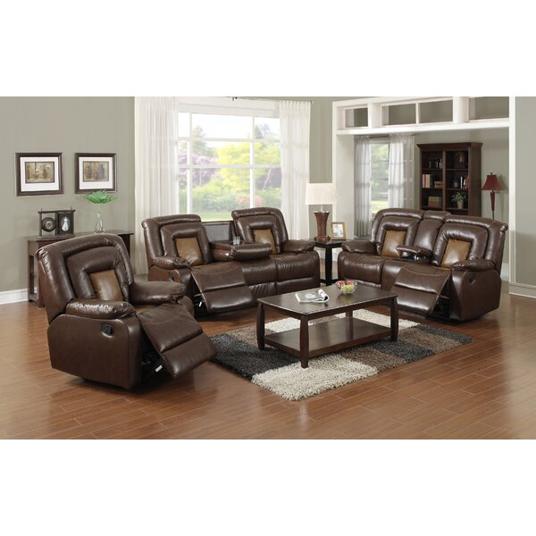 Strock Reclining 3 Piece Living Room Set by Red Barrel Studio