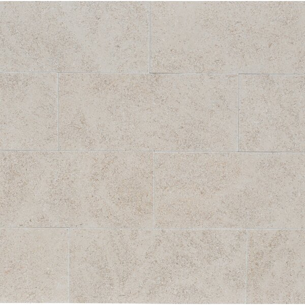 3 x 8 Limestone Field Tile in Beige by The Bella Collection