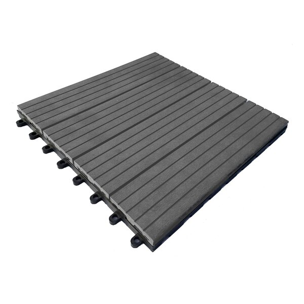 12 x 12 Composite Interlocking Deck Tile in Concre