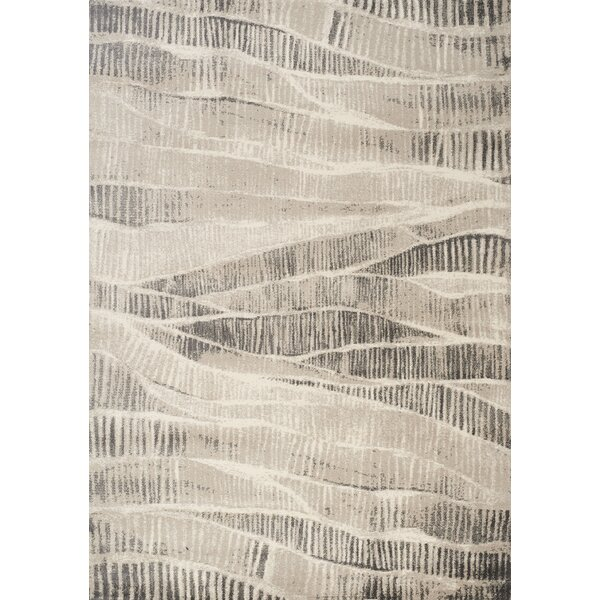Hana Hidden Layers Cream/Tan Area Rug by Brayden Studio