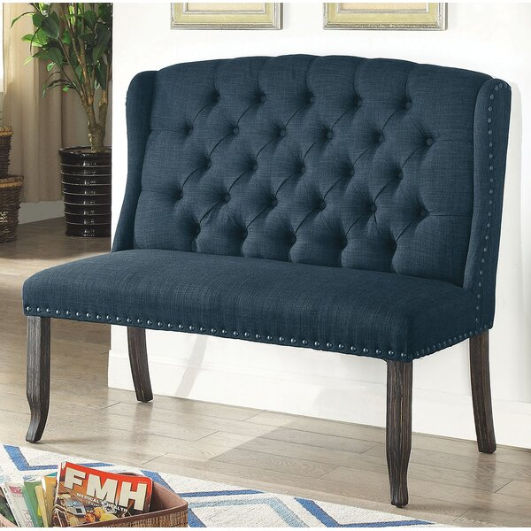 Meda Tufted High Back 2-Seater Love Seat Upholstered Bench by Darby Home Co