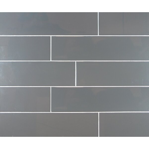 Classic 4 x 16 Ceramic Subway Tile in Dark Gray by