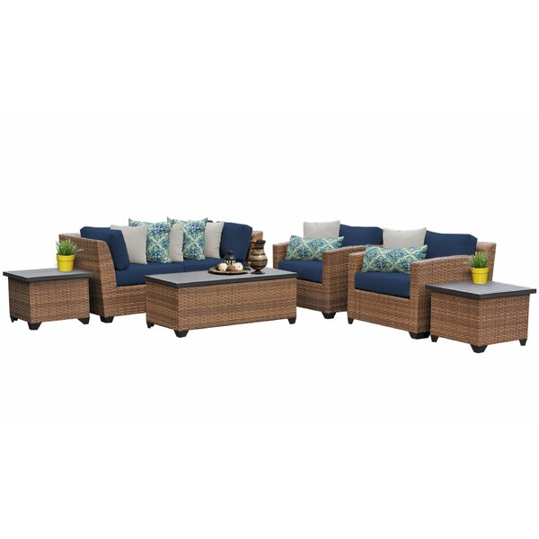 Waterbury 7 Piece Rattan Sofa Seating Group with Cushions