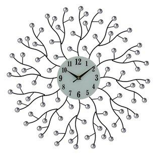 fresh idea whimsical clocks. Kovach Elegant Bejeweled Abstract Branches Round 20  Wall Clock Inch Clocks Wayfair