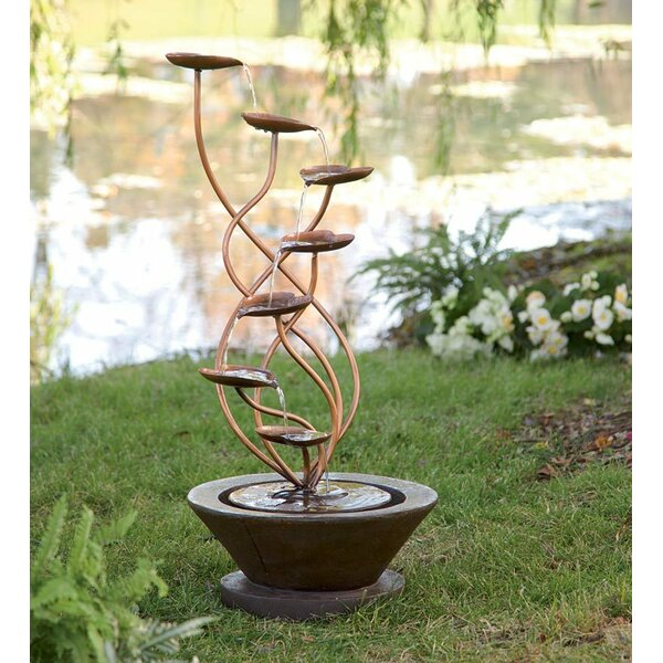 Resin Bronze Leaf Fountain by Wind & Weather