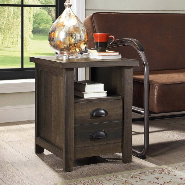Tycho 2 Drawer End Table with Storage by Gracie Oaks Gracie Oaks