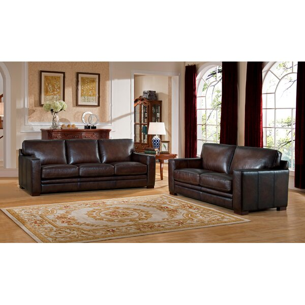Mcdonald Leather 2 Piece Living Room Set by World Menagerie