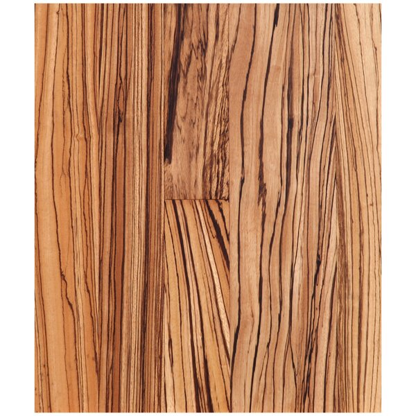 5 Engineered Zebrawood Hardwood Flooring in Natural by Easoon USA