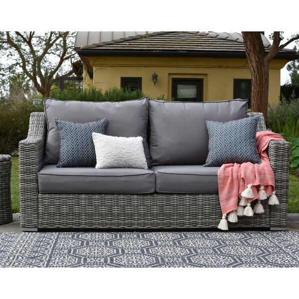 Vallauris Patio Sofa with Cushions by Elle Decor Elle Decor