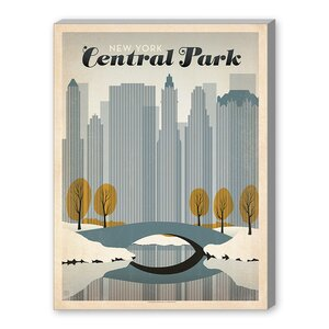 Central Park NYC Vintage Advertisement on Gallery Wrapped Canvas by East Urban Home